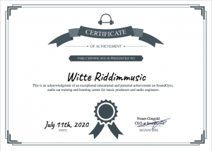 SoundGym Zertifikat